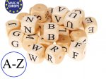 1 x Wooden Letter Bead 12mm - Full Alphabet