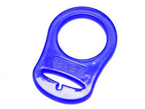 5 DUMMY PLASTIC SILICONE MAM RING PACIFIER HOLDER ADAPTER CLEAR BLUE PINK NEW