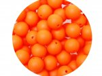 10 x Round Silicone Teething Bead 9mm - orange