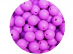 10 x Round Silicone Teething Bead 9mm - purple