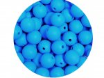 10 x Round Silicone Teething Bead 9mm - sky blue