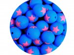 5 x Star Silicone Teething Bead 15mm - blue & pink