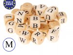 5 x Wooden Letter Beads 12mm - Letter M