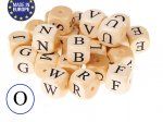 5 x Wooden Letter Beads 12mm - Letter O