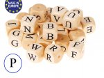 5 x Wooden Letter Beads 12mm - Letter P