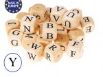 5 x Wooden Letter Beads 12mm - Letter Y