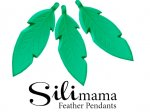 SiliMama® Feather Pendant - Emerald Green