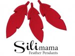 SiliMama® Feather Pendant - Raspberry