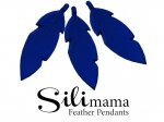 SiliMama® Feather Pendant - Royal Blue