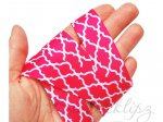 5 Metres - 7/8 Hot Pink Geometric grosgrain ribbon . 22mm