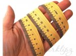 5 Metres -  7/8'' Measuring Tape Metric grosgrain ribbon . 22mm
