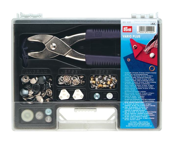 Prym Vario Plus Case   snap and eyelet fasteners plier set