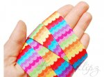 5 Metres -  7/8 Colorful Waves grosgrain ribbon . 22mm